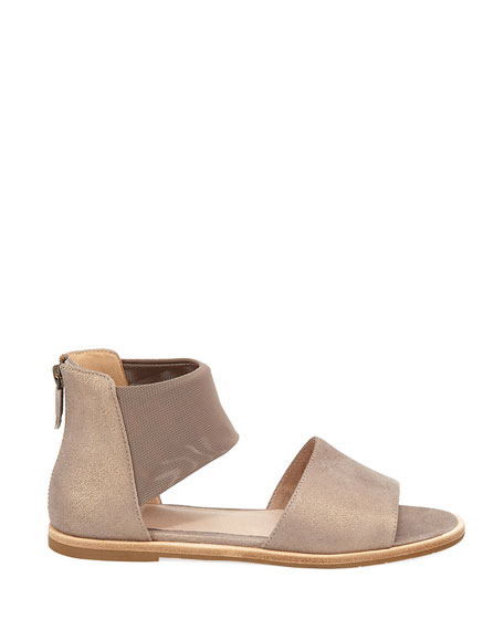 Sign Two-Piece Open-Toe Flat Sandal