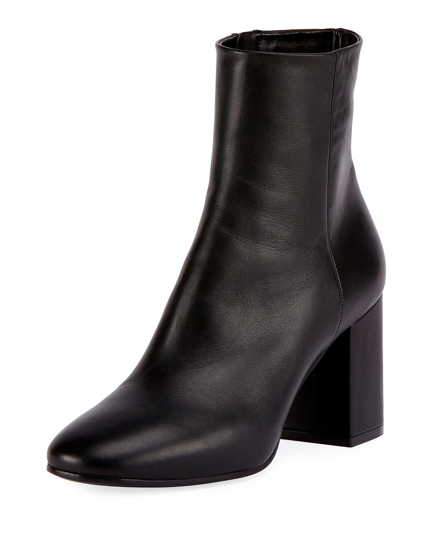 Balenciaga Leather Block-Heel Ankle