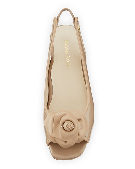 Karlos Floral Demi-Wedge Sandal
