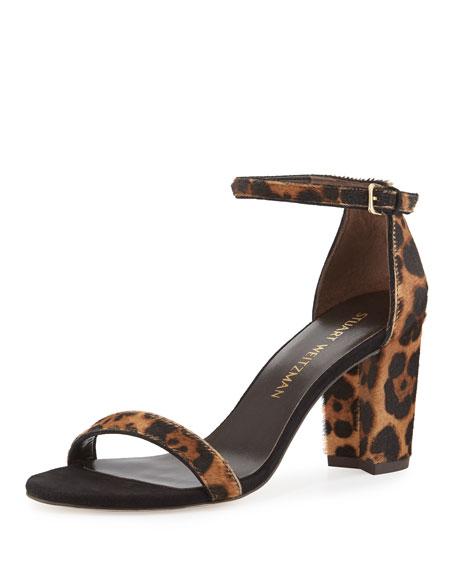 Stuart Weitzman Pipenearlynude Calf-Hair City Sandal