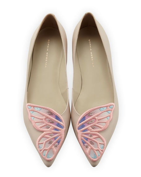 Sophia Webster Bibi Butterfly Embroidered Flat