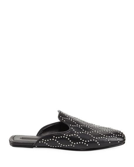 Jaelle Studded Flat Loafer Slide