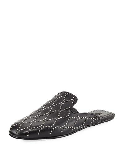 dcf9853e69b Alexander Wang Jaelle Studded Flat Loafer Slide from Neiman Marcus ...