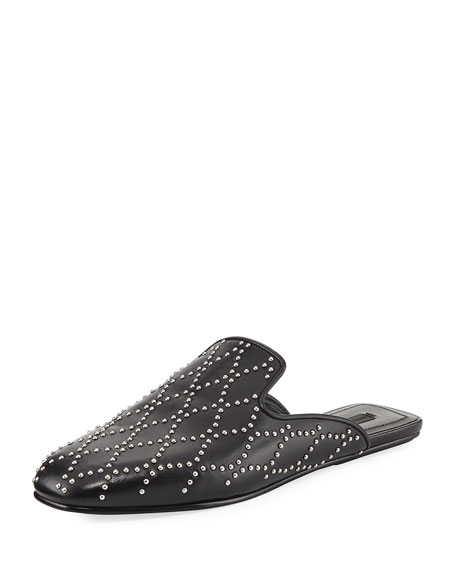 Alexander Wang Jaelle Studded Flat Loafer Slide