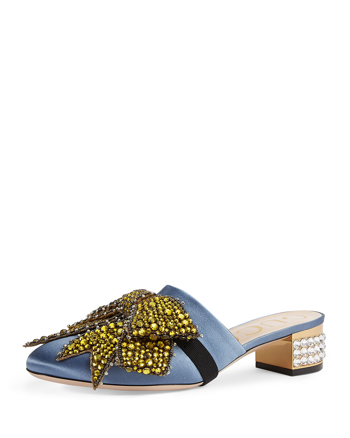 e02274d991d Gucci Bow-Embellished Low-Heel Mule