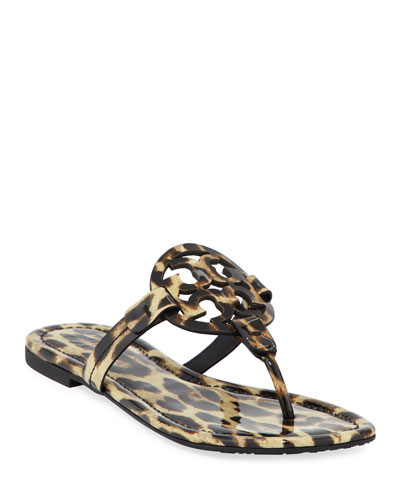 Miller Printed Flat Thong Sandal, Leopard