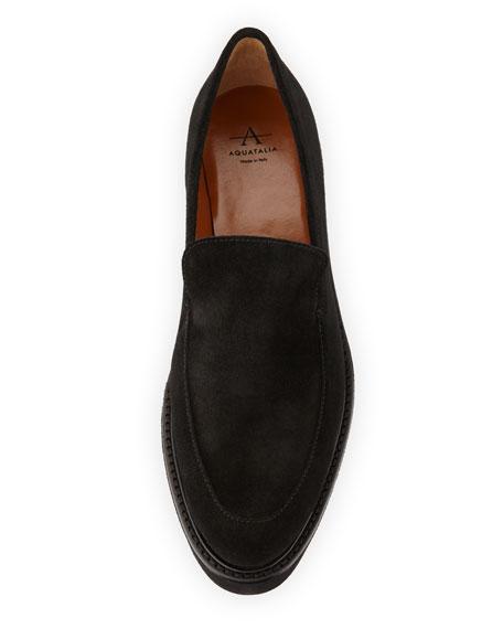 aquatalia kelsey suede platform loafer