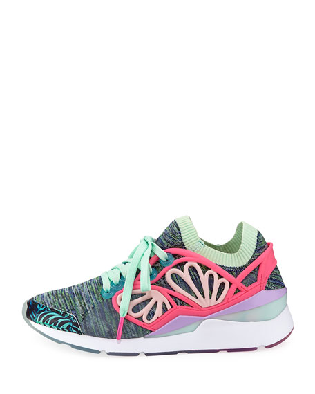 x Sophia Webster Pearl Cage Graphic Knit Trainer Sneaker, Multi