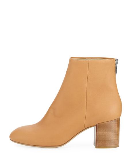 Drea Napa Leather Mid-Heel Ankle Boot