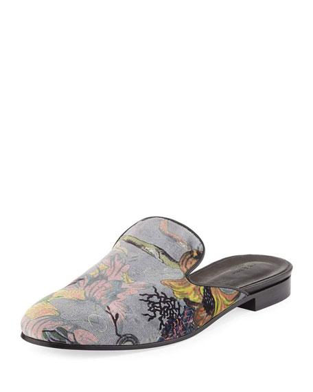 Rag & Bone Savoy Floral Velvet Flat Slide,
