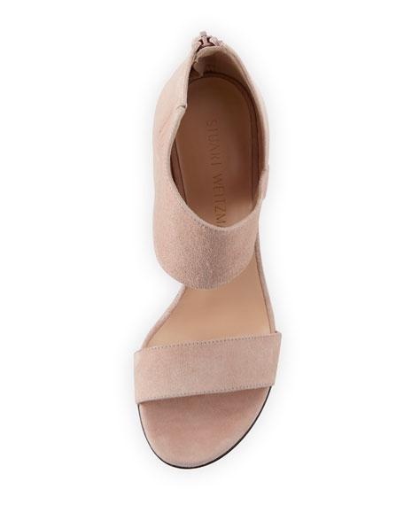 Getonup Suede Chunky-Heel Sandal