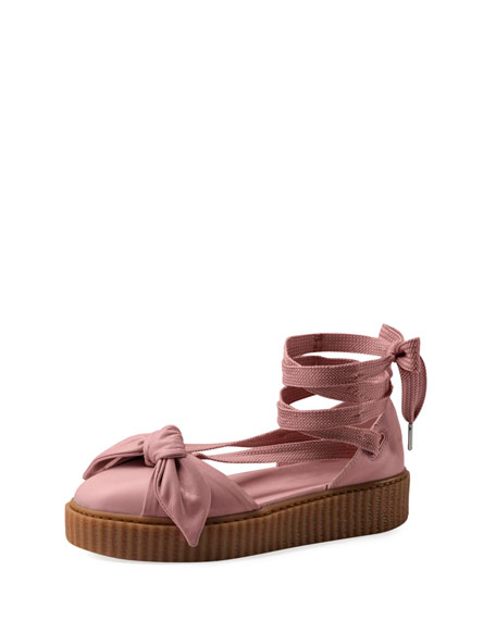 Fenty Puma by Rihanna Bow Leather Creeper Sandal,
