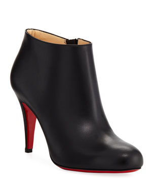 81ef8ea5713e Christian Louboutin Belle Leather Red-Sole Ankle Boots