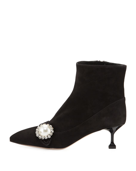 Suede Pearlescent 55mm Bootie