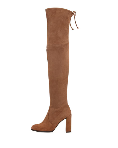 Stuart Weitzman Hiline Suede Over-The-Knee Boot, Nutmeg