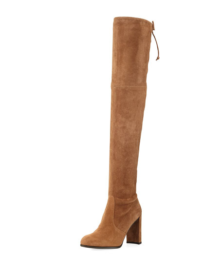 Hiline Suede Over The Knee Boot, Nutmeg by Neiman Marcus