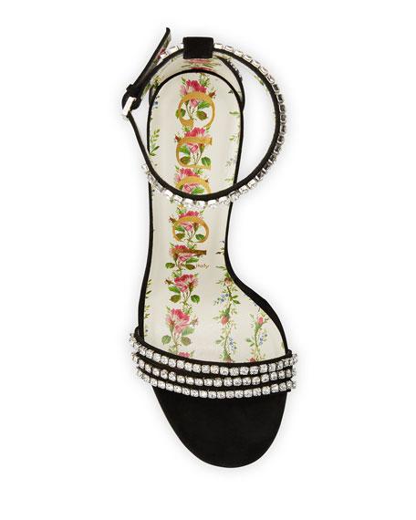 Ilse Crystal-Embellished Suede Sandal