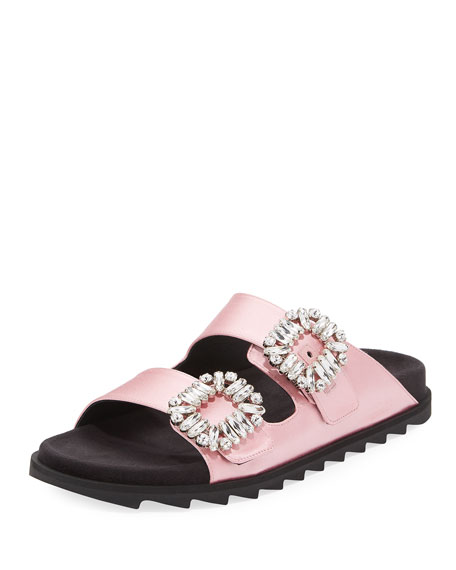 Slidy Viv Strass Buckle Sandal