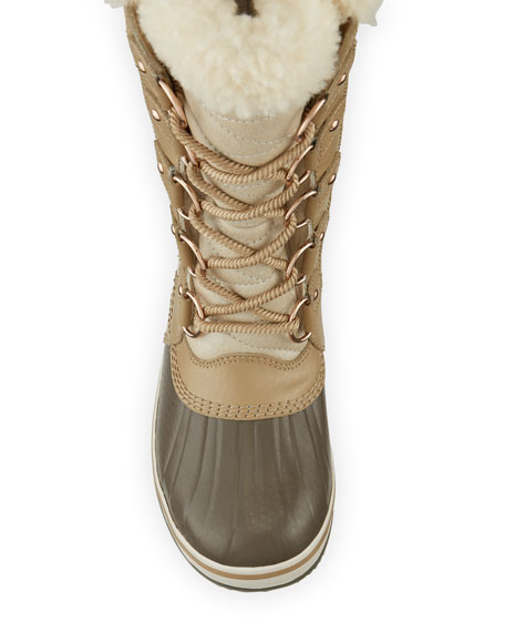 Tofino II Holiday Boot with Faux-Fur Collar