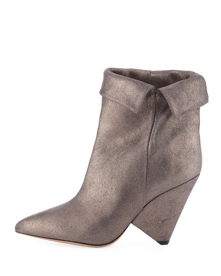 Isabel Marant Luliana Cone-Heel Glitter Booties