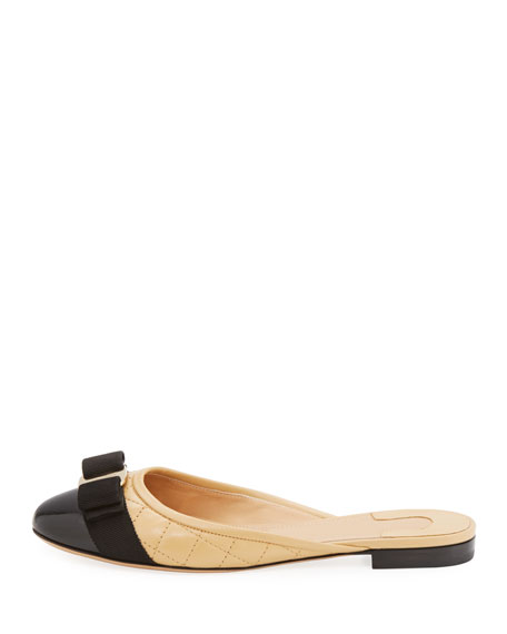 Quilted Flat Ballerina Mule