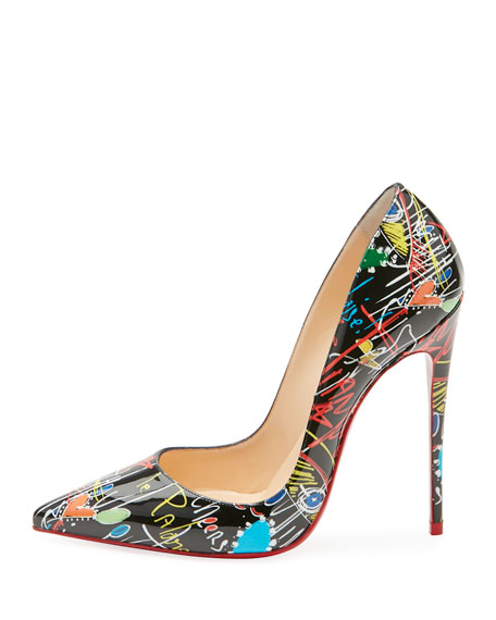Image 3 of 5: So Kate Loubitag Red Sole Pump