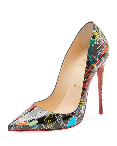 Image 1 of 5: So Kate Loubitag Red Sole Pump