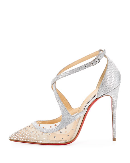 Twistissima Strass Strappy Red Sole Pumps
