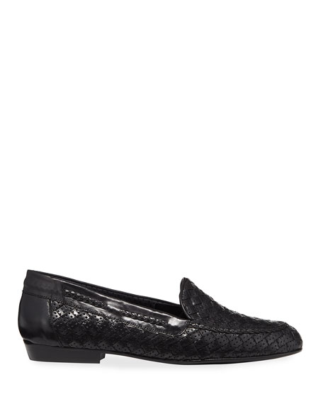 Image 2 of 3: Sesto Meucci Nellie Woven Perforated Leather Loafer