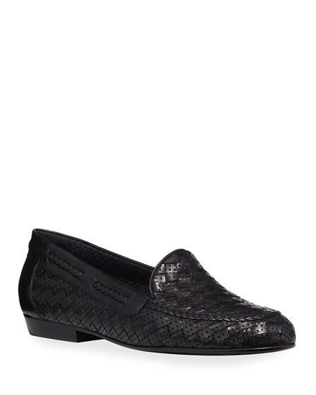 Image 1 of 3: Sesto Meucci Nellie Woven Perforated Leather Loafer