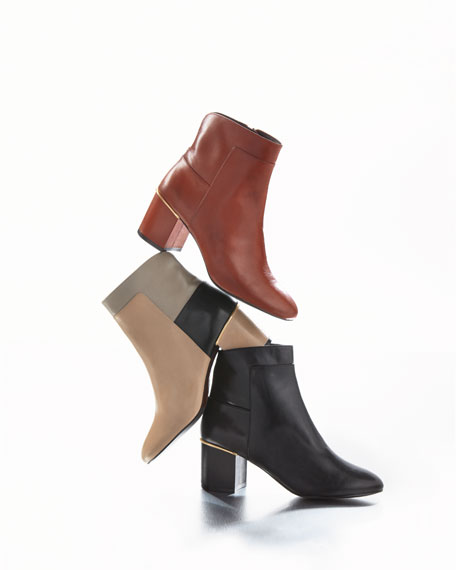 Arden Grand Smooth Leather Bootie, Black