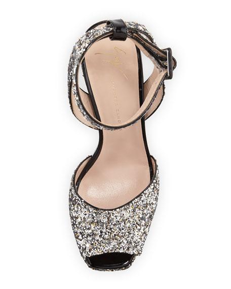 Glitter Platform 120mm Sandals