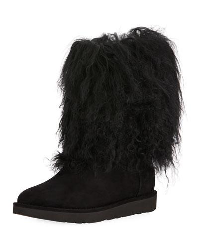 Lida Mongolian-Trim Boot