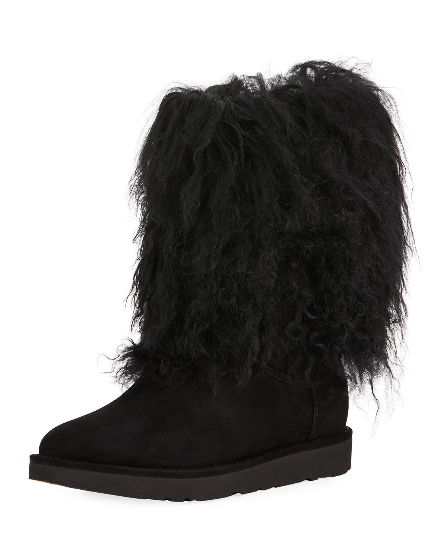 Ugg Lida Mongolian Trim Boot Neiman Marcus