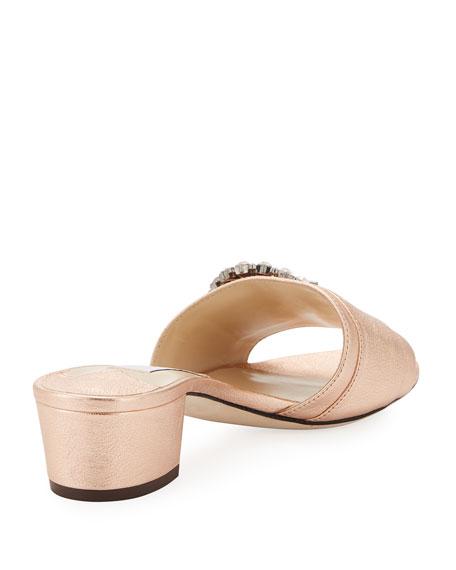 Granger Metallic Napa Slide Sandal