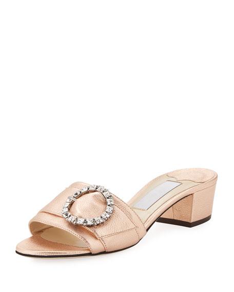 Jimmy Choo Granger Metallic Napa Slide Sandal