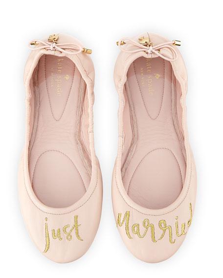 gwen tie leather Ballet Flat