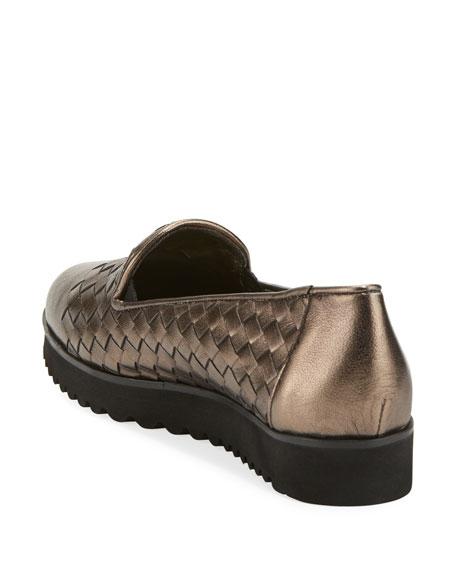 Sesto Meucci Naia Woven Slip-On Loafer, Pewter