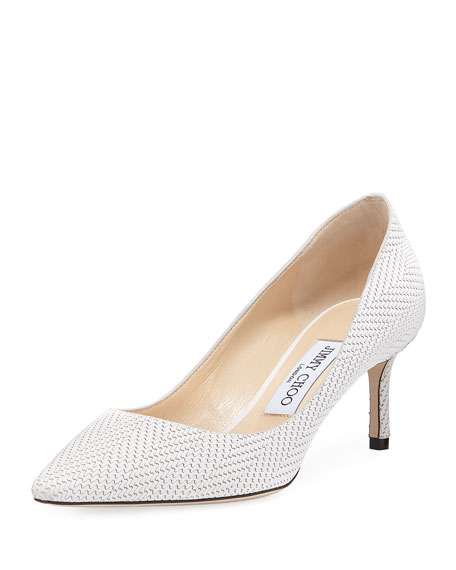 Jimmy Choo Romy 60mm Textured Leather Pump