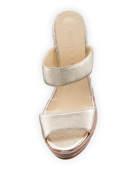 Parker Metallic Wedge Platform Sandal