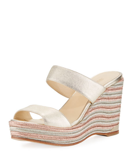 Jimmy Choo Parker Metallic Wedge Platform Sandal