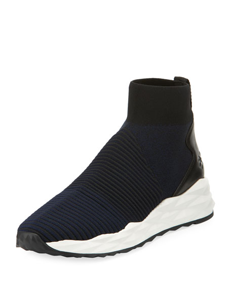 Ash Spot Stretch-Sock High-Top Sneaker