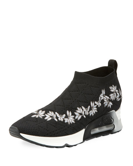 Lolita Embroidered Slip-On Sneakers