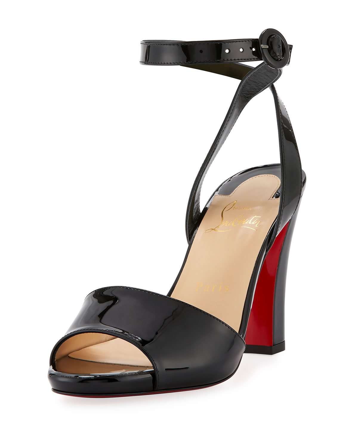 e0013c60c30 Havana Forties Patent Red Sole Sandal
