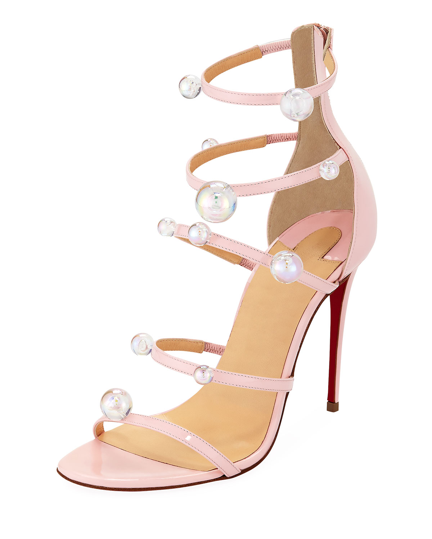 5911f187f589 Christian Louboutin Atonana Patent Strappy Red Sole Sandal