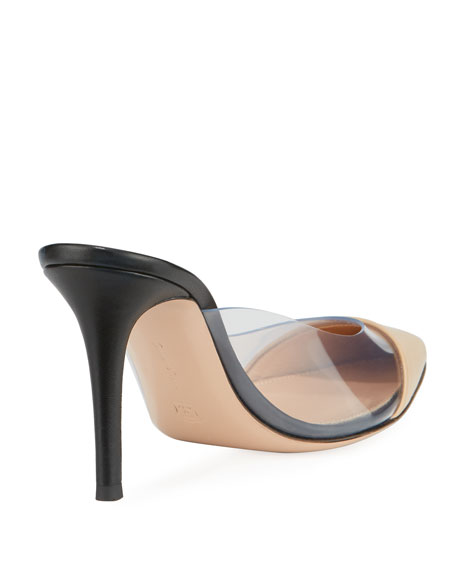 Plexi Leather Illusion 85mm Mule