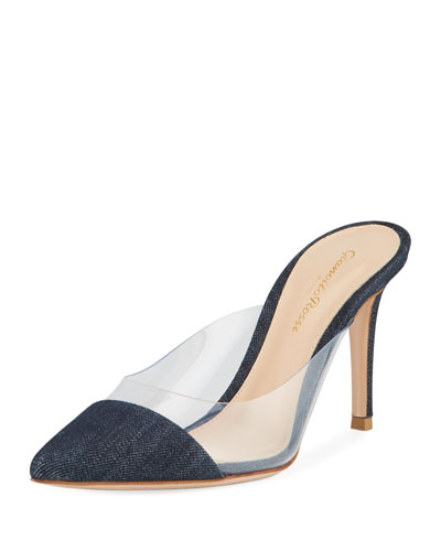 Plexi Denim Illusion 85mm Mule