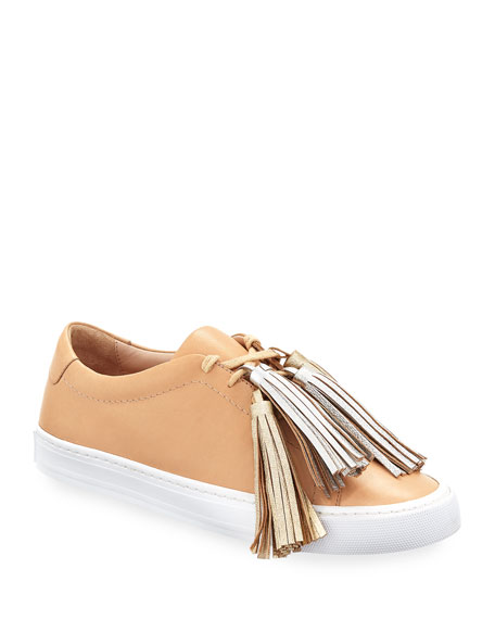 Loeffler Randall Logan Leather Low Top Tassel Sneakers by Loeffler Randall