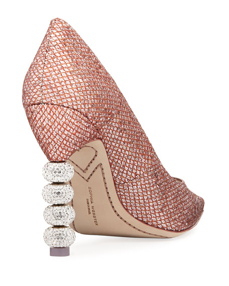 Coco Crystal-Embellished Major Pumps