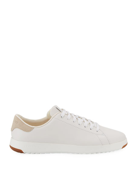 GrandPro Leather Tennis Sneakers, Optic White